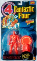 Fantastic Four Human Torch Action Figure Glow in the Dark Toy Biz 1994 N... - $20.00