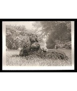 Black Poodle Dog Hamster Friend Vintage Animal Photo - $14.99