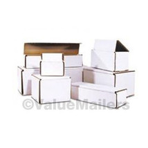 50 - 8 x 6 x 1 White Corrugated Shipping Mailer Packing Box Boxes - $50.62