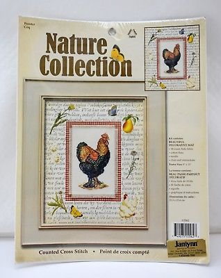 Primary image for Janlynn Nature Collection Rooster Counted Cross Stitch Kit with Mat #115562