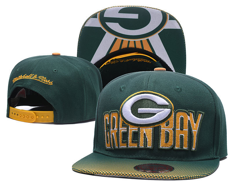 Green Bay Packers Football Team Fans Flat Hat Sports Hip Hop Cap gift for fans