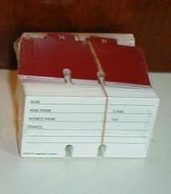 """Longaberger Address Basket Cards W - Alpha Dividers New Sealed 4"""" Wide 2... - $11.83"""