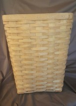Longaberger 1991 Small LAUNDRY HAMPER Waste Basket With Plastic Protector - $49.95