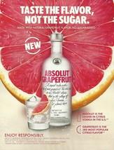 ABSOLUT GRAPEFRUIT Vodka Magazine Ad - FREE SHIPPING U.S. & CANADA - $8.00