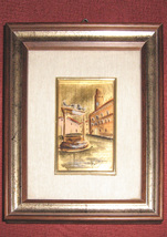 Vintage Certified Paintings on 22 Carat Gold Leaf - $100.00