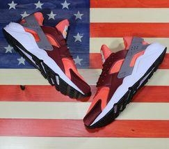Nike Air Huarache Run Running Shoes Team Red Coral White [318429-054] Men's 11.5 image 3