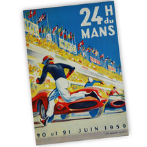 1959 French 24 Hours du Mans Reproduction Race Poster 11x17 & 24x36 Inch - $13.81+