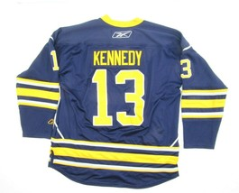 Tim Kennedy Replica Buffalo Sabres Jersey Sewn Home Blue Size XL **FLAWS** - $29.65