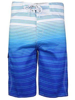 Surf Ocean Men's Premium Beach Sport Swimwear Bathing Suit Trunks Board Shorts
