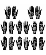 8 pieces Henna tattoo stencils set for finger body paint 8 different pat... - $13.11