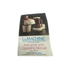 Lamachine By moulinex instruction booklet For Model 390 And 354 - $6.92