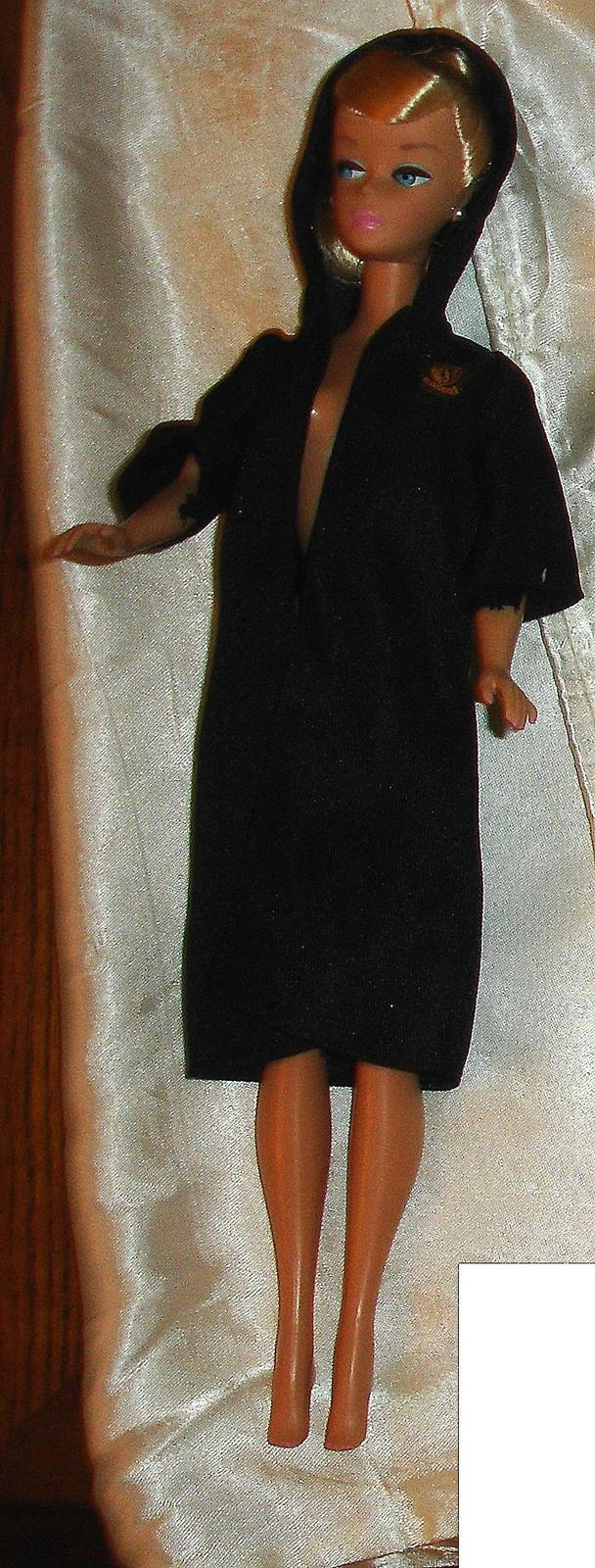Primary image for Mattel black hooded cape fits Vintage Barbie made for Hermione doll clothes HP