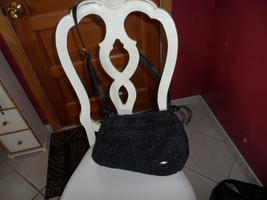 Liz Claiborne black woven shoulder bag - $14.50
