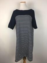 Gap Women's Navy Blue Striped Short Sleeve Tunic Dress Size XL Extra Large - $16.82