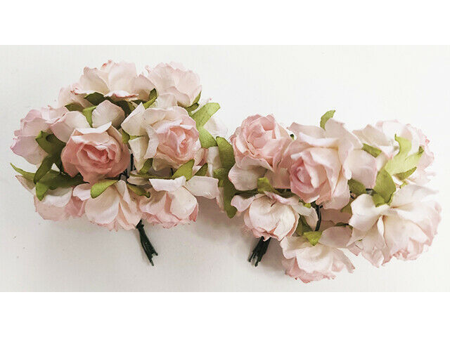 Mulberry Pale Pink Roses, 25mm, 20 Count