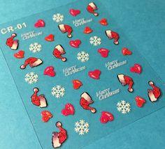 BANG STORE Nail Art 3D Stickers Glitter Decals Merry Christmas Santa Snowflakes - $3.67