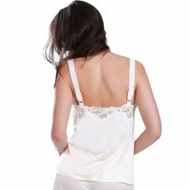 Illusion Women's Premium Nylon Lace Inset Camisole Slip Top With Lace Trim 2032 image 4