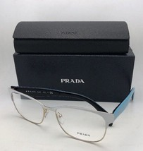 New PRADA Eyeglasses VPR 65R VIC-1O1 55-16 140 White Gold w/Blue on Blac... - $259.95