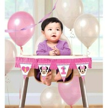 Minnie Mouse Fun to Be One High Chair Decorating Kit 1st Birthday Party - $8.19