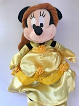 "Disney Minnie Mouse Dressed as Belle Princess Yellow Dress 8"" Plush Doll... - $19.34"