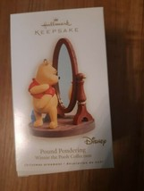 Disney Hallmark Winnie The Pooh Pound Pondering Ornament Christmas Holiday - $24.70