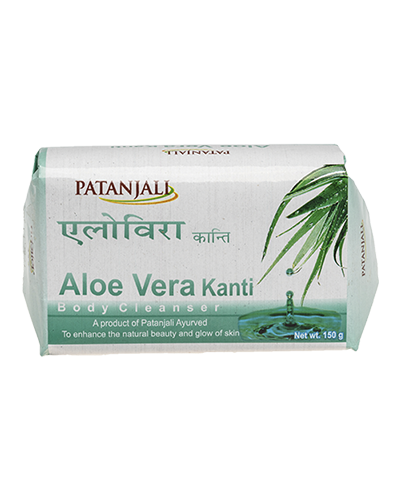 PATANJALI KANTI ALOEVERA BODY CLEANSER SOAP BAR- 150gm