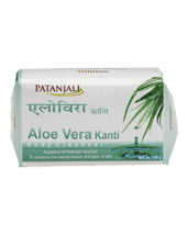 PATANJALI KANTI ALOEVERA BODY CLEANSER SOAP BAR- 150gm  - $12.99+