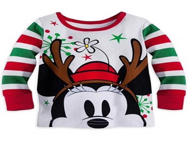 Disney Mini Mouse Holiday PJ Pal Set Baby Sizes 0-12 M NWT