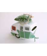 Pottery Barn camper with bottlebrush tree Christmas ornament - $15.99