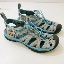 KEEN Whisper Sandals Waterproof Water Hiking Shoes Gray Blue Womens US S... - $30.92