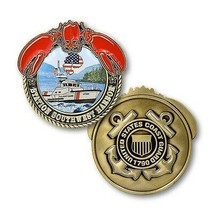 "USCG COAST GUARD  STATION SOUTHWEST HARBOR 1.75"" CHALLENGE COIN - $18.04"