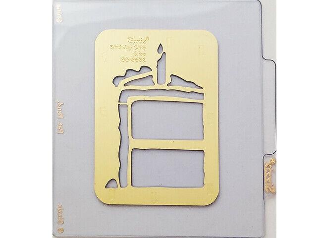 Sizzix Metal Embossing Plate, Birthday Cake Slice #38-9632