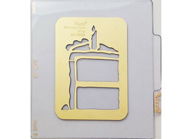 Sizzix Metal Embossing Plate, Birthday Cake Slice #38-9632 image 1