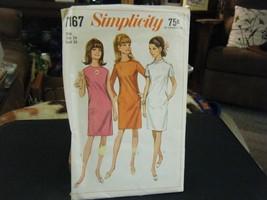 Simplicity 7167 Misses Dress Pattern - Size 14 Bust 34 - $9.43