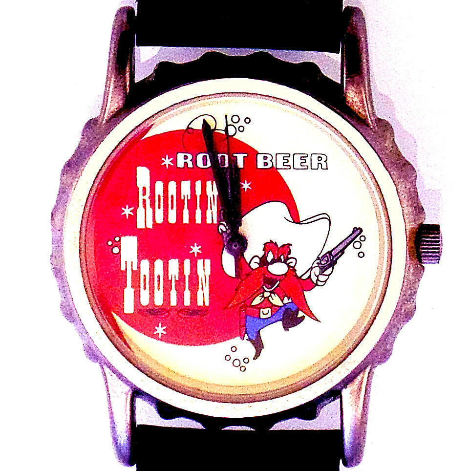 Primary image for Yosemite Sam, Rootin Tootin Bottle Cap Watch, Fossil Warner Bros Collection, $89