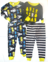 Just One You by Carters Infant Boys 2 PAIRS of Pajamas Robots Size 18 Mo... - $11.69