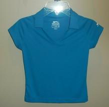 Slazenger Golf Polo Shirt Girls XS Youth Short Sleeve Shirt Top New Blue... - $19.75