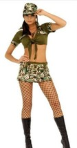 Secret Wishes Booty Camp Costume Army Sexy Solider Sargent 5 Pc Size M NEW - $22.57