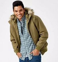 Timberland Men's Boundary Peak Waterproof Olive Green Bomber Jacket A1CO... - $148.50