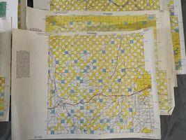 "Vintage 1980 Lot (8) Wyoming Quad Index Map US Dept of Interior 22x16.5"" 2 Sided image 3"