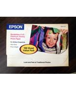 "Photo Paper EPSON Borderless 4"" x 6"" Premium Glossy 100 Sheets SEALED B... - $7.49"