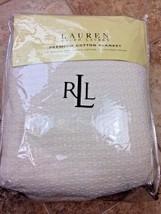 Ralph Lauren Estate Full/Queen Cotton Classic Creme Bed Blanket 013 - $37.39
