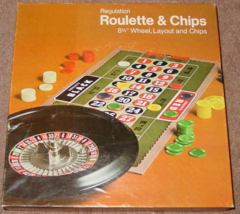 REGULATION ROULETTE & CHIPS VINTAGE ES LOWE MILTON BRADLEY 1974 #36 COMP... - $25.00