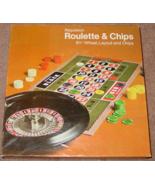 REGULATION ROULETTE & CHIPS VINTAGE ES LOWE MILTON BRADLEY 1974 #36 COMP... - $25.00