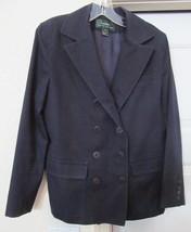 RALPH LAUREN Jacket Coat NAUTICAL Group 100% COTTON NAVY 10 Distressed - $37.95