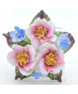VTG AYNSLEY Fine Bone China ENGLISH Porcelain Flower Cluster Pin Brooch - $49.50