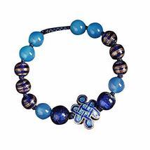 Ethnic Cloisonn Pattern Glass and Agate Bracelets Elegant Charm Bracelets image 1