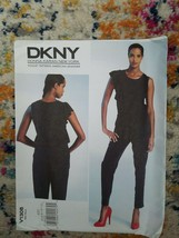Vogue Pattern V1308 Size 4-12 Donna Karan New York Jumpsuit Uncut - $8.59
