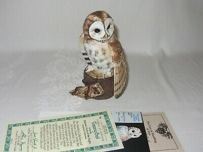 Tawny Owl Hamilton Collection Maruri Majestic Owl Night Vtg Figurine 1986