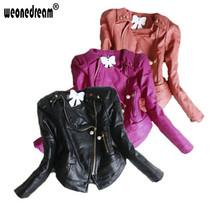 Girls Winter Faux Leather Jacket Coat - $66.99+